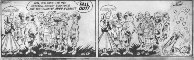 DAVIS, JACK (retired) - Civil War comic strip daily #7 - 1950s Comic Art