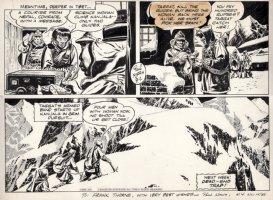 NORRIS, PAUL - Jungle Jim Sunday bottom half 8/2 1953, signed to artist Frank Thorne in 1953! Comic Art