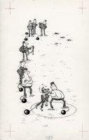 ARAGONES, SERGIO - Mad book page, prison shot put! Comic Art