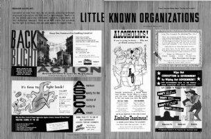 CLARKE, BOB - Mad #48 pgs 8 & 9, Little Known Organizations Comic Art