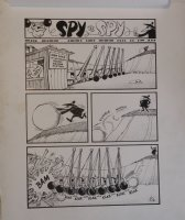 CLARKE, BOB - Mad #304 one page Spy vs Spy story. Newton's cradle on a large scale makes a good revenge weapon!  Comic Art