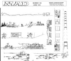 ARAGONES, SERGIO - Mad Magazine #199 pages, Very rare group of Sergio's famous Marginal cartoons Comic Art