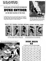 CLARKE, BOB - Mad Magazine #32 page 1, Duke Snider baseball article parody Comic Art