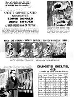 CLARKE, BOB - Mad Magazine #32 page 2, Duke Snider baseball article parody Comic Art