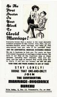 WOODBRIDGE, GEORGE - Mad Magazine #65 pg 32, Doctor avoids marriage Comic Art