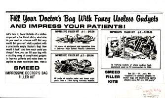 WOODBRIDGE, GEORGE - Mad Magazine #65 pg 35, Doctor's bag fancy tools but useless Comic Art