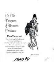 RICKARD, JACK - Mad #94 One-Page gag art, 11 X 12, Valentine to Woman's Fashion 1965 Comic Art
