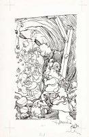 ARAGONES, SERGIO - Incurably MAD! pg 161, Seven Dwarfs & miners  1977 Comic Art
