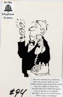 COKER, PAUL JR - Mad #94 One-Page gag, Valentine to Telephone Company 1965 Comic Art