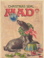 MINGO, NORMAN - Mad #84 cover painting prelim - Christmas Seal, 1963-64 Comic Art