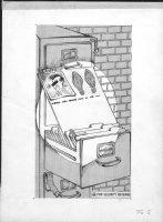 PROHIAS, ANTONIO - All New Mad Secret File on Spy vs Spy splash page, artist bio, 1965 Comic Art