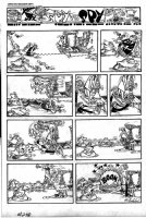 PROHIAS, ANTONIO - Mad Magazine #258 full 1-pager - Spy vs Spy...play frogger? Comic Art