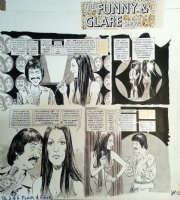 TORRES, ANGELO - Mad #157 story pg 2, Title page - Sonny & Cher TV Satire 1973 Comic Art