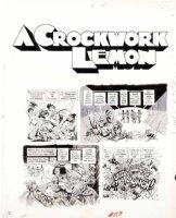 WOODBRIDGE, GEORGE - MAD Magazine #159 George Woodbridge MAD Magazine #159 film satire story  A Crockwork Lemon  pg 2 1973 Comic Art