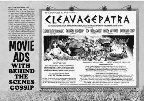 RICKARD, JACK - Mad #88 super large, double-title splash movie poster, Cleopatra / Liz Taylor satire, 1964 Comic Art
