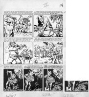 SEVERIN, JOHN / BILL ELDER signed / KURTZMAN layouts - Mad #7 pg 6, Treasure Island & Melvin Mole Comic Art