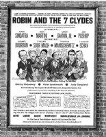 RICKARD, JACK - Mad #88 movie poster, 2-up single page gag- Robin Seven Hoods poster satire - Rat Pack 1964 Comic Art