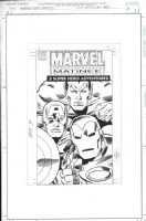 FRENZ, RON / TERRY AUSTIN - Marvel Video Box #3 cover, Capt America, Iron Man, Subby 1994 Comic Art