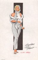 FRENZ, RON - Amazing Spiderman #265 Silver Sable inked & colored character design- Silver Sable C Comic Art