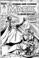 FRENZ, RON - Magik #3 cover - Magik to slay Storm for Belasco 1984 Comic Art