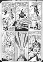 FRENZ, RON - Amazing Spiderman #270 pg 6, Black Spiderman & Firelord Comic Art