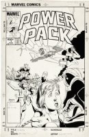 BRIGMAN, JUNE / BOB WIACEK - Power Pack #1 Alternate cover  Comic Art