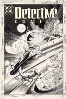BREYFOGLE, NORM - Detective Comics #601 cover, Batman & Batmobile vs Tenzin 1st app. 1988 Comic Art