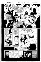 WOOD, ASHLEY - Alpha Flight V2 #13 pg 11 - X-Files homage Comic Art