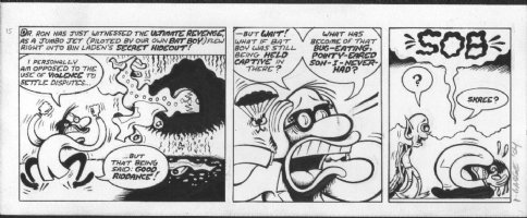 BAGGE, PETER - Batboy daily #15, survives plane crash Comic Art