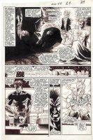 BLEVINS, BRETT - New Mutants #49 pg 18, Magneto alone, awakes from WW2 origin in Nazi camp Comic Art