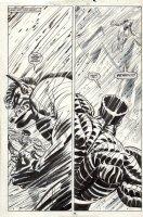 BLEVINS, BRETT - New Mutants #73 Giant pg 40 splashy 2 panels, Colossus vs S'ym INFERNO Comic Art