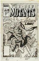 BLEVINS, BRETT - New Mutants #69 cover, spyder trap Comic Art