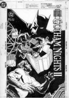 BLEVINS, BRETT - Batman: Gotham Nights II #2 cover Comic Art