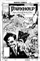 CASE, RICHARD - Darkhold #2 cover, Vicki Montesi tracks down the Darkhold Comic Art