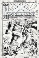 LIGHTLE, STEVE - X-Factor #32 cover, X-Men vs Avengers, one of the classic 1980's cover images! Comic Art