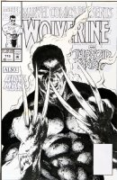 LIGHTLE, STEVE - Marvel Comics Presents #113 cover, Wolverine is…SMOKIN !!  Comic Art