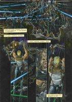 ROSS, ALEX - Terminator: Burning Earth #1 fully painted pg 11, 1st ROSS series - humans cyber-battle Terminators 1990 Comic Art