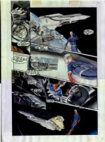 ROSS, ALEX - Miracle Man Apoc #1 Marvel Man mini-series painted page, MM & space shuttle Comic Art