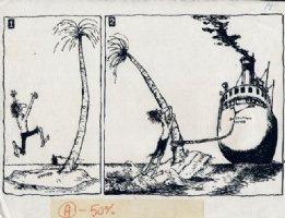 RODRIQUEZ, CHARLIE - Cracked gag page 1970s Comic Art
