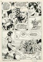 STEVENS, DAVE signed - TARZAN Sunday Weekly #6 pg 3, big panel!  Tarzan & female adventurer Comic Art
