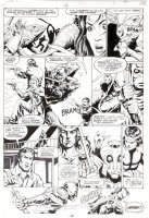STEVENS, DAVE / RICK HOBERG - What If? #16 pg 38, Master of Kung Fu & giant lizards 1979  Comic Art