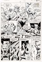 STEVENS, DAVE / RICK HOBERG - What If? #16 pg 36, Master of Kung Fu & team vs giant lizards 1979  Comic Art