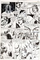 STEVENS, DAVE / RICK HOBERG - What If? #16 pg 43, Master of Kung Fu ala Bruce Lee, Fu Manchu -1979 Comic Art