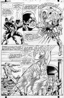 STERANKO, JIM - Uncanny X-Men #50 semi-splash pg 8, Cyclops, Beast, Angel, Marvel Girl captured Comic Art