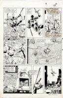 WILLIAMSON, AL signed / BRIGHT - Spider-Man / Wolverine #1 pg 15, Black Spider-Man Comic Art