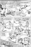 SCHAFFENBERGER, KURT - Superman Family #184 pg 6, Jimmy Olsen, tennis doubles Comic Art
