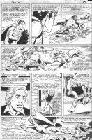 SCHAFFENBERGER, KURT - Superboy #49 pg 15, Superboy vs magic villain & 2-headed dogs Comic Art