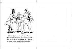 SCHAFFENBERGER, KURT - Captain Marvel - Shazam book 1970s  last page 24 Comic Art