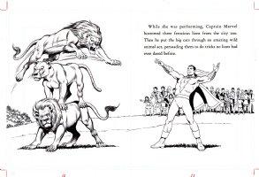 SCHAFFENBERGER, KURT - Captain Marvel - Shazam book 1970s  pages 10 & 11 Comic Art