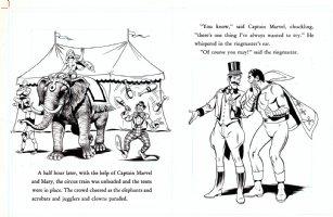 SCHAFFENBERGER, KURT - Captain Marvel - Shazam book 1970s  pages 17 & 18 Comic Art